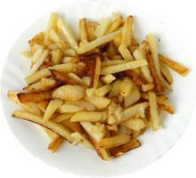 Картофель, жаренный c сырым