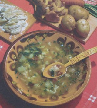 Суп псковско-печорский с грибами и КЛЕЦКАМИ