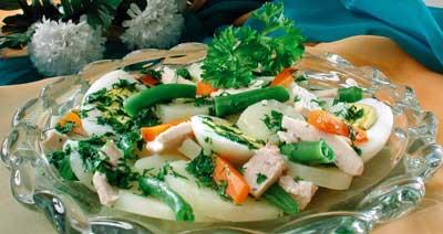 Салат картофельный с  фасолью