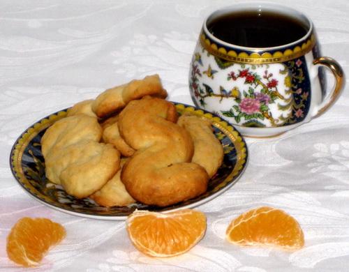 Печенье мандариновые змейки