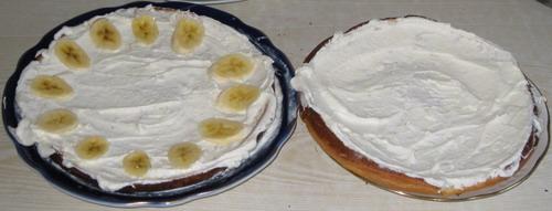 бисквит с творогом и фруктами