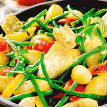Картофель с фасолью