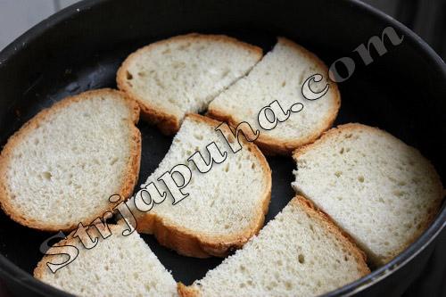 Бутерброды с творогом и сыром горячие
