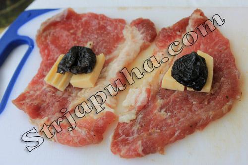 Мясные клубочки с черносливом