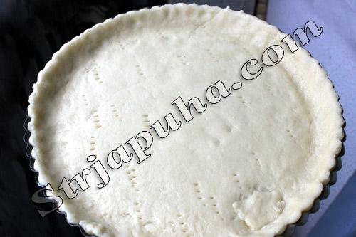 Песочный пирог с черникой открытый