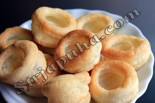 Тарталетки с семгой и сыром фета
