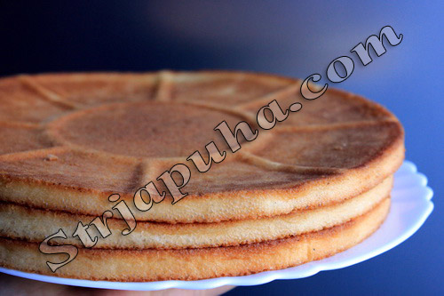 Торт Бисквит ванильный с творожно-банановым кремом. Бананово-творожный крем