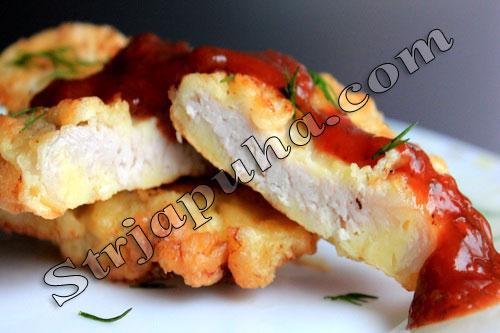 Свинина в сыре (отбивные в сырной шубе)