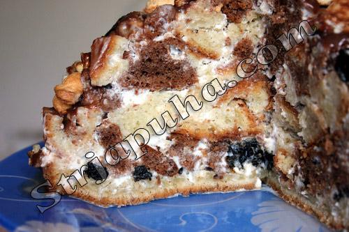 Торт «Графские развалины» на сметане с черносливом