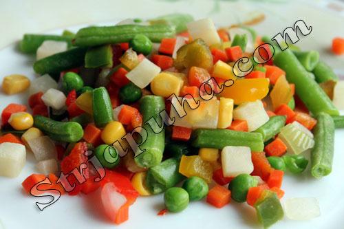 Овощное соте под сырной шубой
