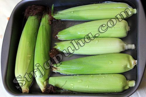 Кукуруза  запечённая в духовке