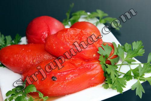 Помидоры в собственном соку – в томатном соке