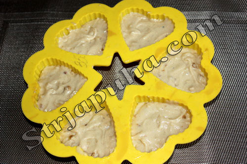 Кофейные капкейки (маленькие кексы) с грецким орехом