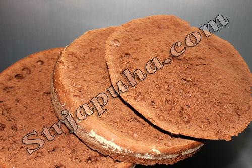 Торт шоколадный «Черный лес» с вишней