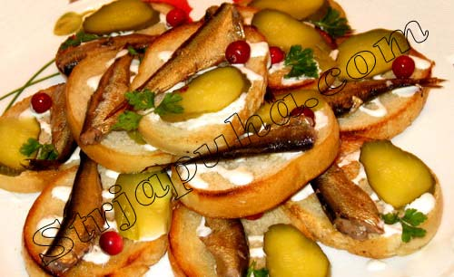 Бутерброды «Улов рыбака»