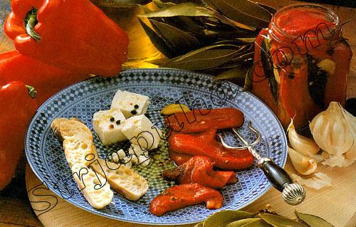 Жареные болгарские перцы в оливковом масле
