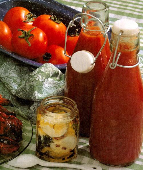 Салса из помидоров и базилика