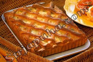 Пирог из лука-порея и ветчины (флэмиш)