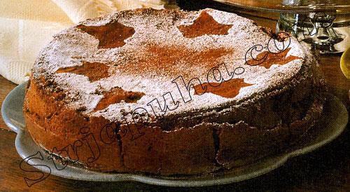 Шоколадно-помадный торт