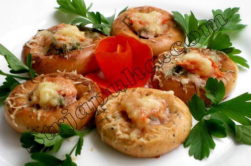 Сушки, фаршированные грибами