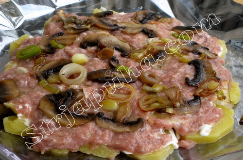 Французский картофельно-мясной торт