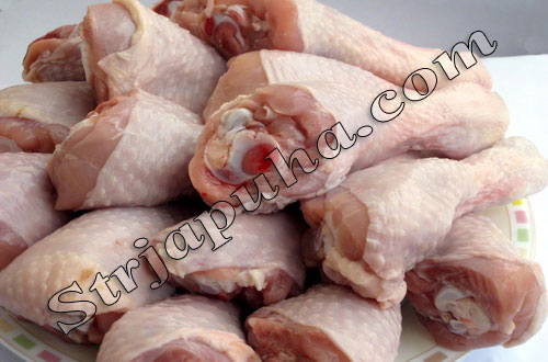Куриная голень фаршированная