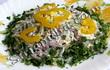 Баварский салат с блинами